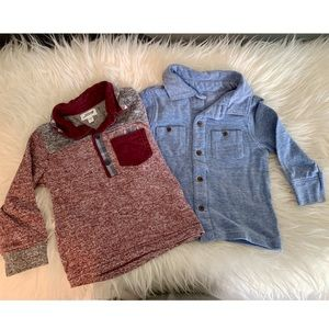 Other - Two Collard Toddler Long Sleeve Shirts | 12-18 Mn